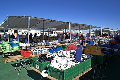 One of the hundreds of vendors at the Tyson Wells market area in Q.