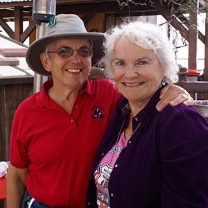 Linda and Mara enjoying the vibe at The Desert Bar.