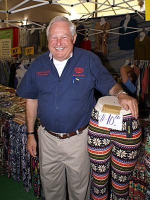 Charlie Addcock, FMCA National President, in the Big Tent at Quartzsite, AZ.