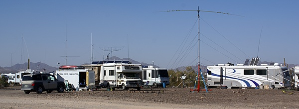 Quartfest is where RVing Hams meet up.  There were almost 300 rigs, all with radios and antenna.
