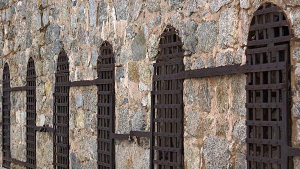 Main cell block, 1875 Yuma Territorial Prison.  Yuma, AZ.