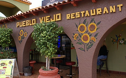 This is where we ate lunch in Los Algodones, Mexico.