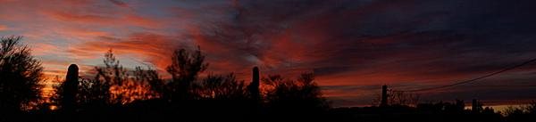 A typical sunset in Quartzsite, Arizona.