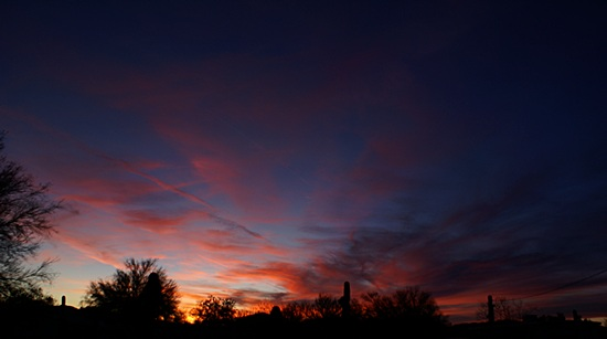 Another view of the sunset from our campsite in Quartzsite, AZ.