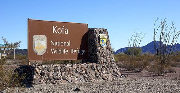 Palm Canyon Road entrance to KOFA NWR.