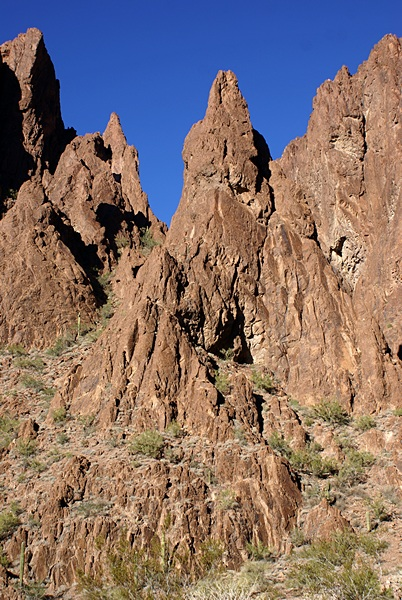 The north wall farther into Palm Canyon, KOFA NWR, AZ.