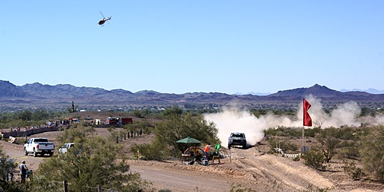 The Parker 425 checkpoint east of Bouse, AZ.  This race is a BIG deal with fire, EMS, and helicopter coverage.