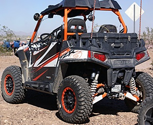 "The Polaris RZR (""razer"") was one of the most popular 4-wheel ATVs in and around Q."