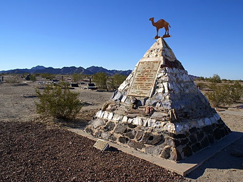 Hi Jolly's pyramid gravesite marker is a State Historical Site.