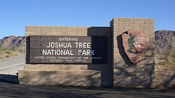 South/Cottonwood entrance to Joshua Tree National Park in California.