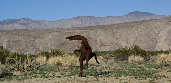 This dinosaur was obviously happy to be in Galleta Meadows.