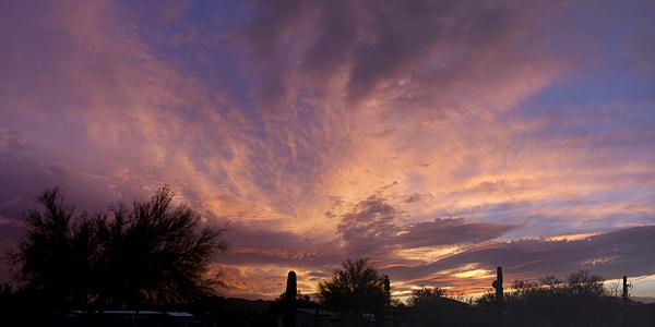 Atmospheric conditions make all the difference in sunrise and sunset photography.  Panorama stitched with MS-ICE.