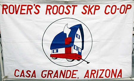 We stayed at the RoVers Roost SKP CO-OP on our way to Quartzsite for the winter.