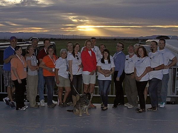 Some of the attendees from the Xscapers Social gather for a sunset photo.