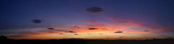 Sunset as viewed from our campsite at the Pima County Fairgrounds near Tucson, AZ.