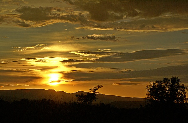 Sunset as viewed from the BLM STVA just south of Why, AZ.