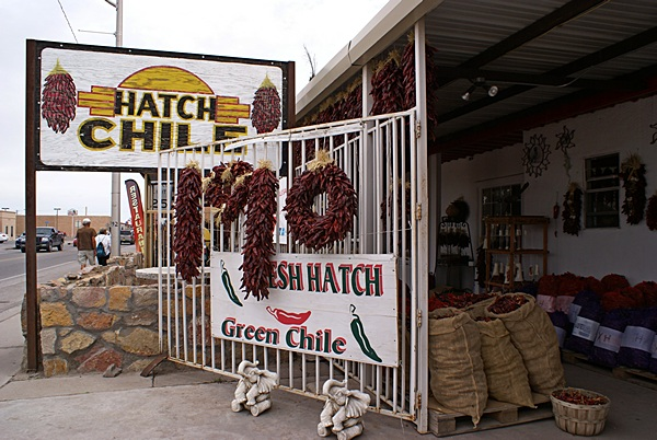 Hatch Chile Sales in Hatch, New Mexico.