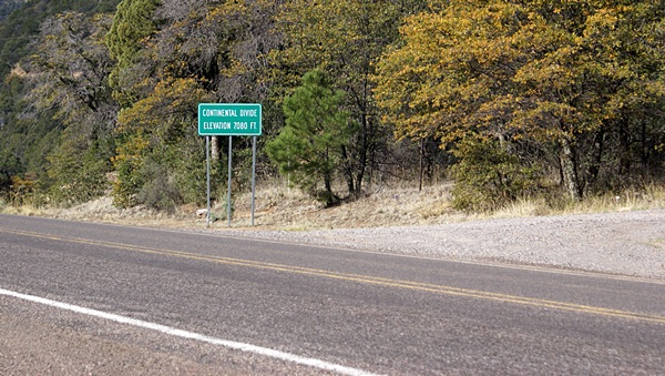 We crossed the Continental Divide twice today.  This was the crossing on NM-15.
