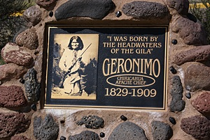 Native American leader Geronimo and his people lived in this area.