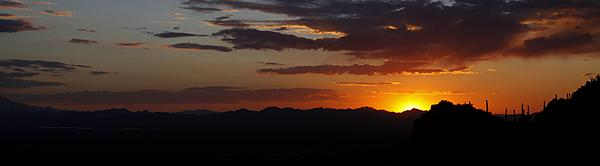 Sunset from Gates Pass west of Tucson, AZ.