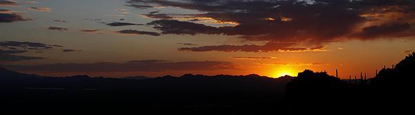 Sunset from Gates Pass west of Tucson, AZ.