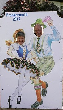 "Bill and Karen pose for their ""dancing Bavarians"" photo op."