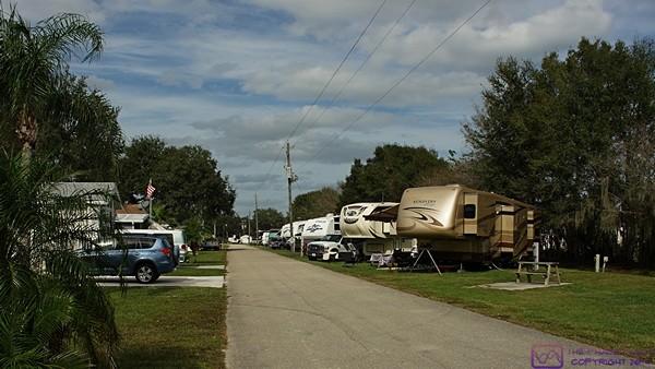 """K"" row at Big Tree Carefree RV Resort, Arcadia, FL."