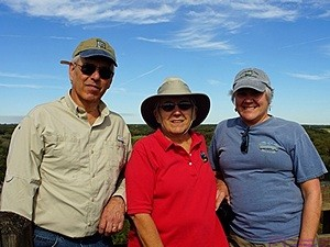Ron, Linda, & Mary atop the 76.1 foot observation tower, Myakka SP, FL.