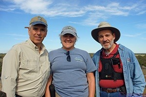 Ron, Mary and Me atop the 76.1 foot observation tower, Myakka SP, FL. (Photo by Linda)