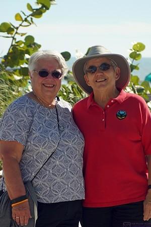 Marilyn and Linda at the Diamond Head Beach Resort & Spa, Ft. Myers Beach, FL.