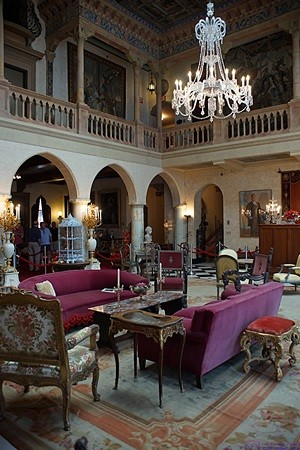 The living room at Ca' D'Zan, Ringling Museums complex, Sarasota, FL.