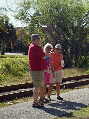 Michael, Mara, and Linda at the historic 1928 train station in Punta Gorda, FL.