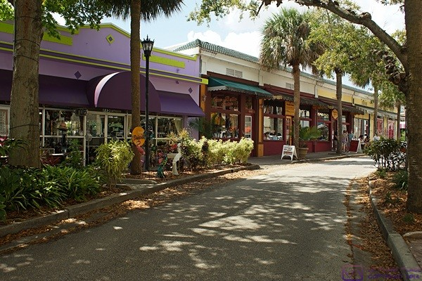A Small Part Of Downtown Historic Cocoa Village Florida